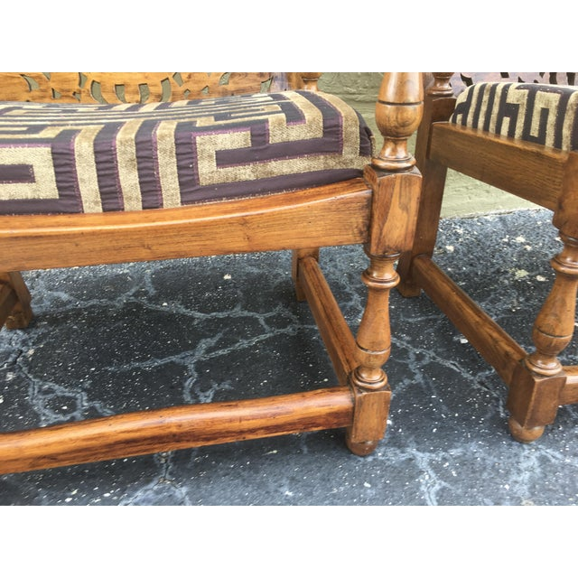 19th Century Convertible Pair of Monk's Chair or End Table,Foldable Armchair For Sale - Image 9 of 11