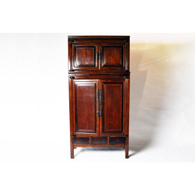 Impressive Two Section Cabinet With Five Drawers For Sale - Image 13 of 13