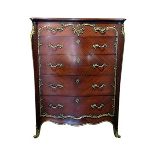 20th Century Regency Bronze Mounted High Chest For Sale
