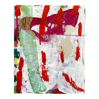 """Bleeding Heart"" Original Painting on Wood For Sale"