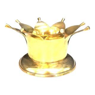 Vintage Brass Crown Planter For Sale