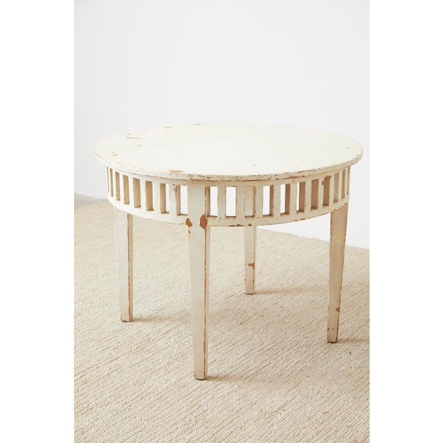 White Pair of Richard Mulligan Distressed Centre or Side Tables For Sale - Image 8 of 13