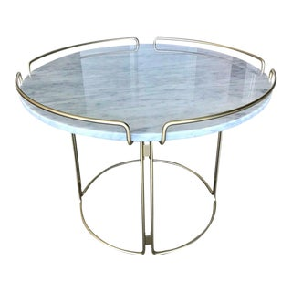 The Bijou End Table in Marble and Matte Gold by Roche Bobois, 2018 For Sale