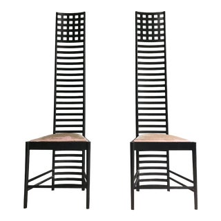 Vintage Cassina Charles Rennie Mackintosh Chair Hill House Chairs - a Pair For Sale