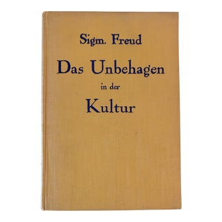"""1930s Vintage Sigmund Freud 1st Edition """"Civilization and Its Discontents"""" Book For Sale"""