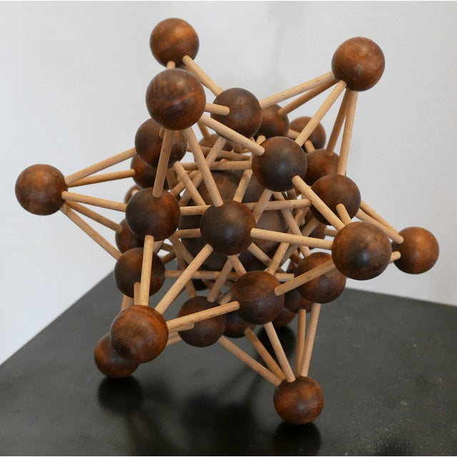 Abstract Vintage Molecular Wood Model For Sale - Image 3 of 5