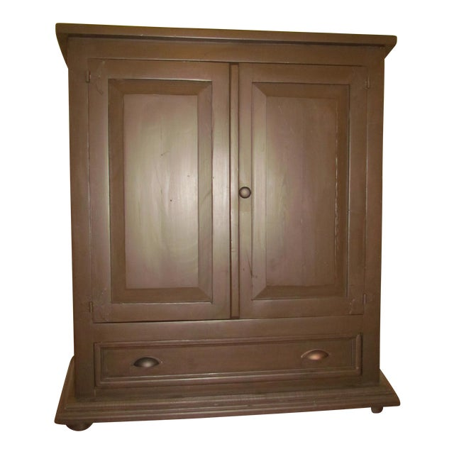Solid Pine Media Armoire - Image 1 of 4