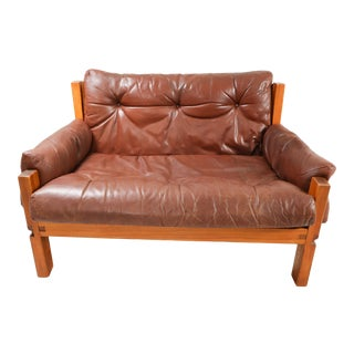 Pierre Chapo Love Seat S18y, France 1970 Mid-20th Century For Sale