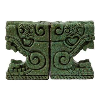Stone Bookends Pre Columbian Style by Michael Zarebski for Industrias Creativas For Sale
