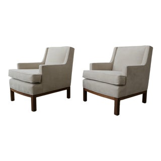 Pair of Mid Century Lounge Chairs For Sale