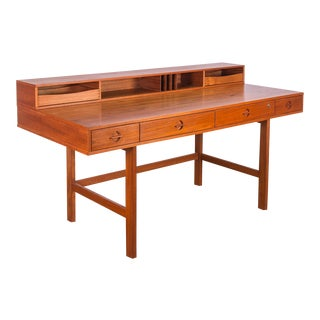 Peter Løvig Nielsen Flip-Top Teak Desk For Sale