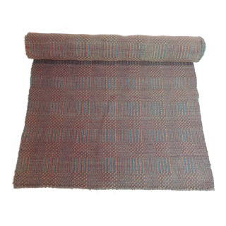 Vintage Flat-Woven Red and Blue Americana Carpet Runner For Sale
