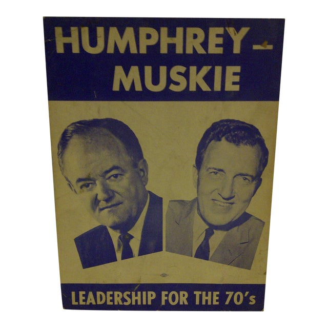 Vintage Presidential Campaign Poster, 1968 For Sale
