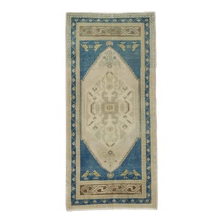 1960s Turkish Mini Blue Carpet