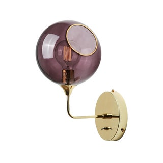 Ballroom the Wall Short Sconce - Purple For Sale