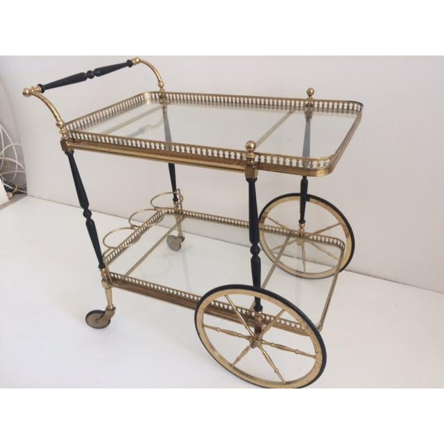 Metal French Bar Cart From the 1940's For Sale - Image 7 of 10