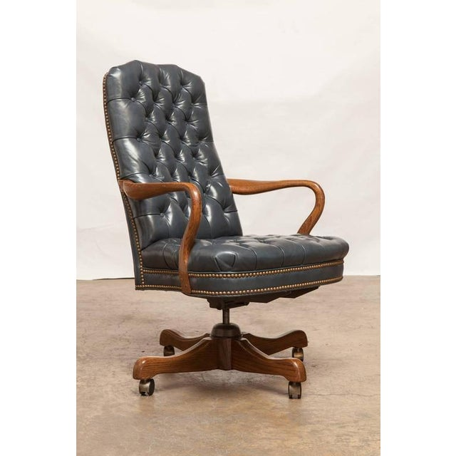 Magnificent Schafer Brothers Tufted Leather Desk Chair Machost Co Dining Chair Design Ideas Machostcouk