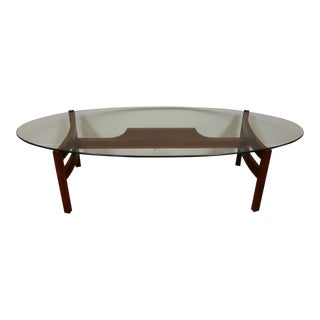 Walnut & Glass Coffee Table