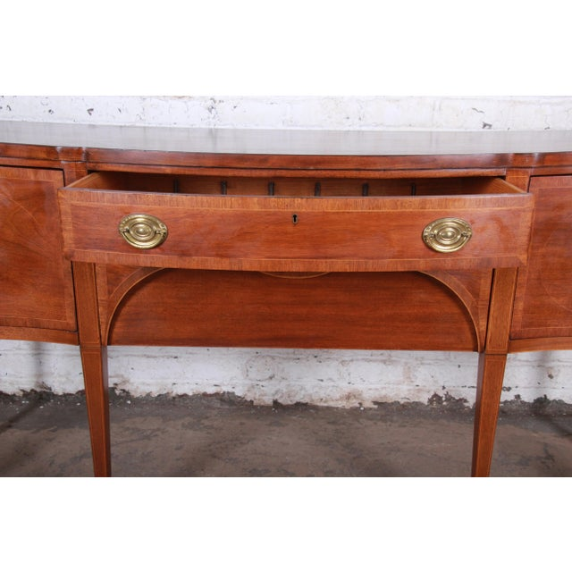 Gold Kittinger Inlaid Mahogany Sideboard Credenza For Sale - Image 8 of 13