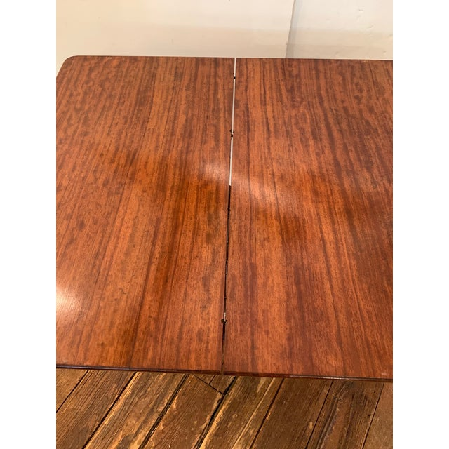 Brown Versatile Campaign Style Mahogany Side or Dining Table For Sale - Image 8 of 13