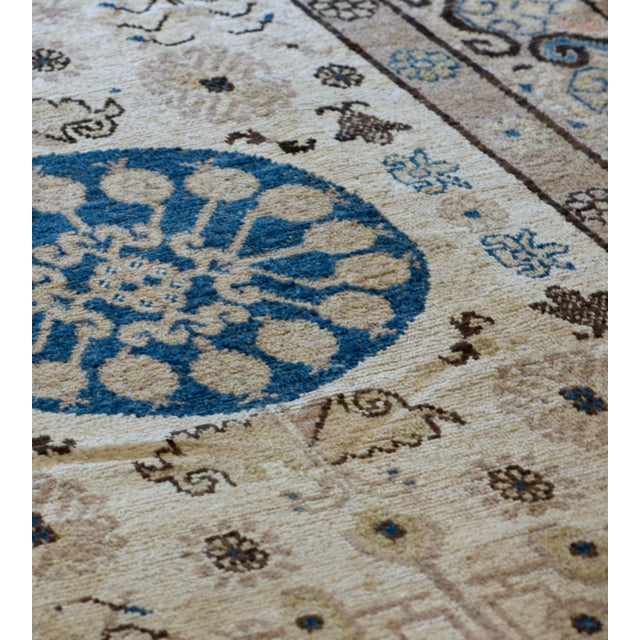 Persian Mid 19th Century Handwoven Khotan Wool Rug For Sale - Image 3 of 5