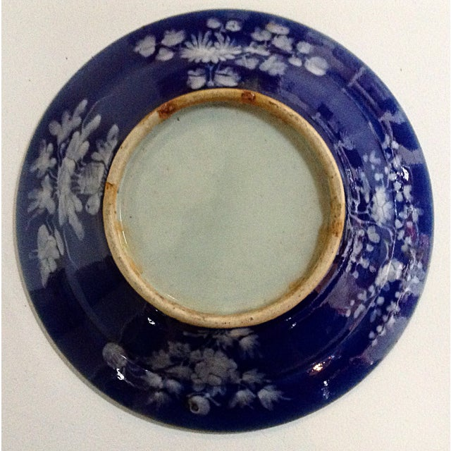 Antique Chinese Blue Ground Dishes - Pair For Sale - Image 4 of 4