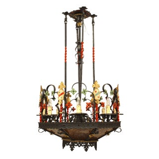 1920s English Gothic Revival Style Chandelier For Sale