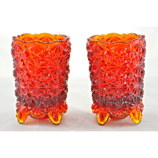 Red Ombre Candle Holders - A Pair - Image 3 of 4