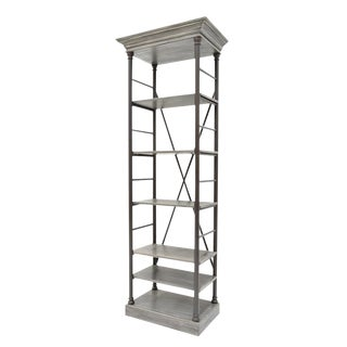 Sarreid Ltd Five Shelf Bookcase For Sale