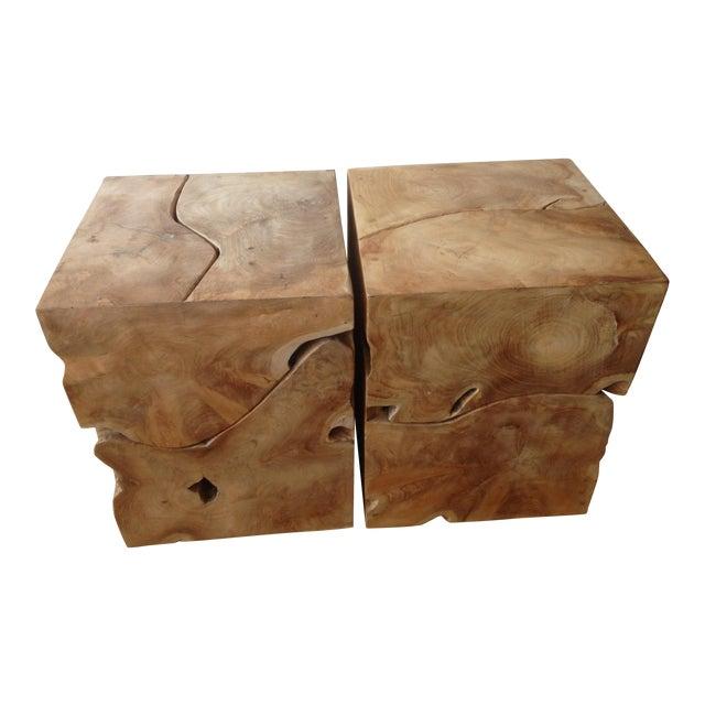 Jayson Home Milo Teak End Tables - a Pair - Image 1 of 6
