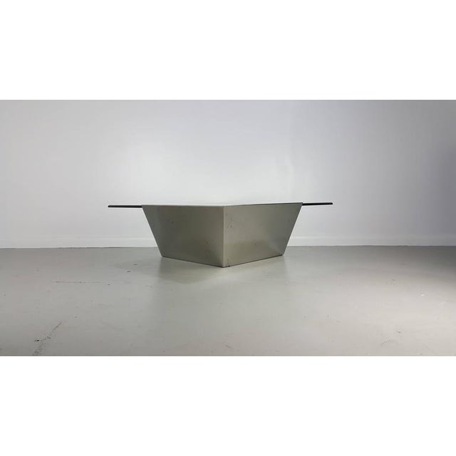 1990s Brueton J. Wade Beam Cantilevered Stainless Steel Coffee Table For Sale - Image 5 of 6