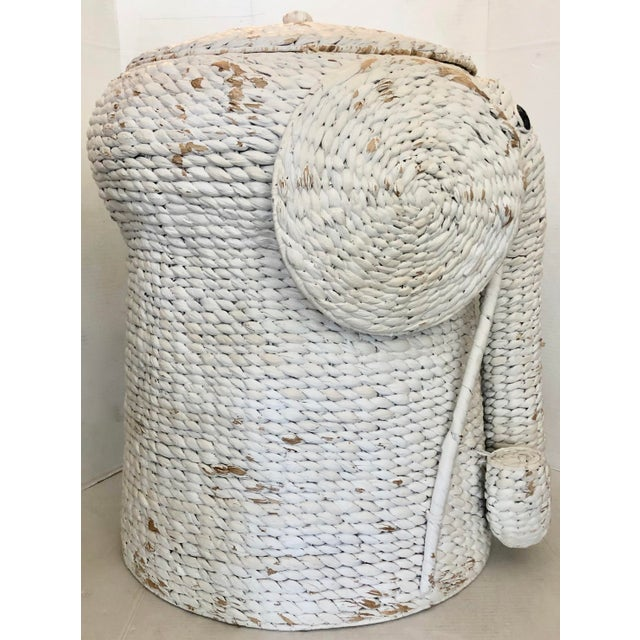XL Elephant Basket With Lid For Sale - Image 4 of 11