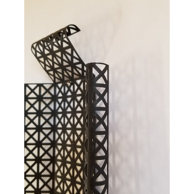 Metal Mid Century Modern Wire Mesh Candle Holder & Shelf Set For Sale - Image 7 of 13