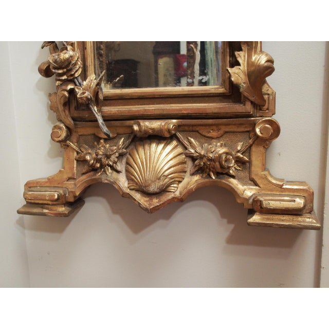 Petite Parcel Gilt Mirror For Sale In New Orleans - Image 6 of 9