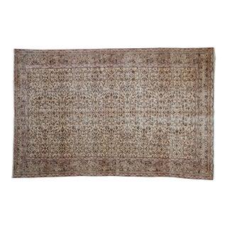 "Vintage Distressed Sparta Carpet - 5'7"" X 8'8"" For Sale"