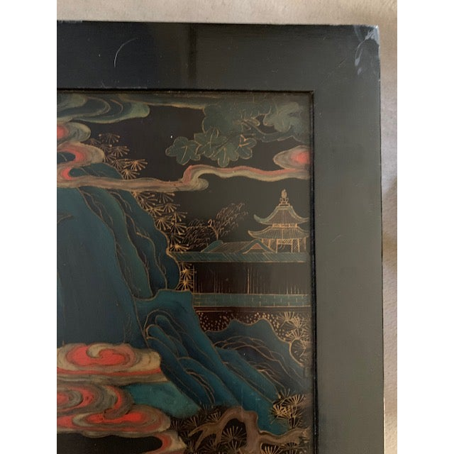 20th Century Asian Hand Painted Square Accent Table For Sale - Image 4 of 13