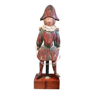Sarreid Folk Art Wooden Jester Statue For Sale