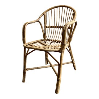 Vintage Rattan Chair For Sale