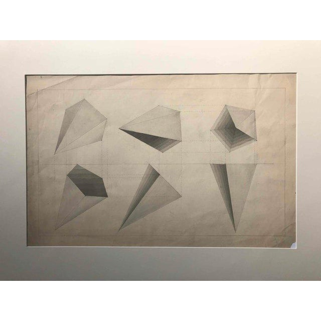 Gray Set of Three Early 20th Century Charcoal Drawings From France For Sale - Image 8 of 13