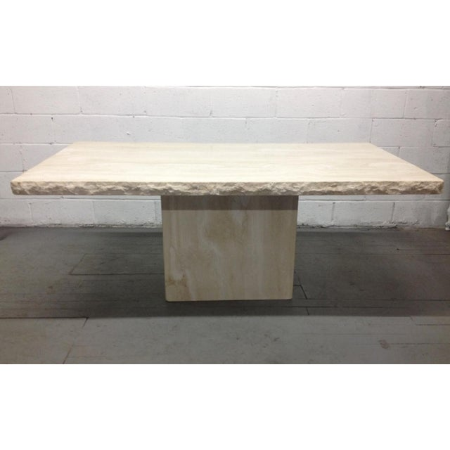 Large Italian Travertine Table For Sale In New York - Image 6 of 6