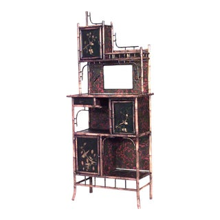English Victorian Bamboo Étagère For Sale