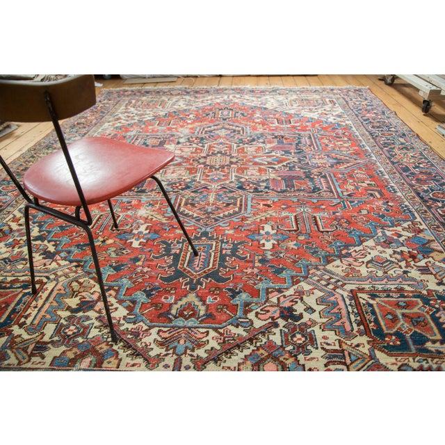 "Vintage Distressed Heriz Carpet - 8'11"" X 11'10"" - Image 7 of 10"