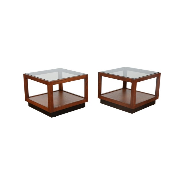 Brown & Saltman Side Tables- A Pair - Image 1 of 10