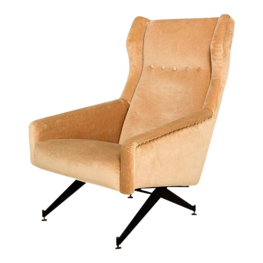 Pair of Sculptural Italian Armchairs For Sale