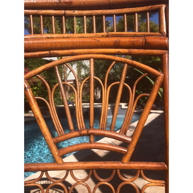 1990s Vintage Bali Bamboo Chairs & Table- Set of 3 For Sale - Image 4 of 9
