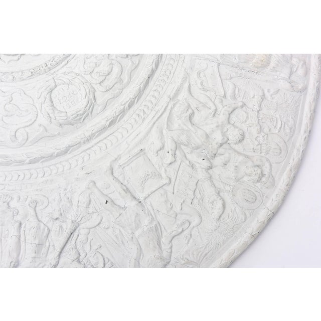 Resin 1990s Modern Versace Style White Plaster Resin Medallion For Sale - Image 7 of 10