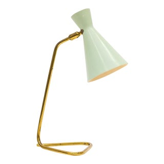 Pastel and Brass Table Lamp by BAG Turgi, 1950s