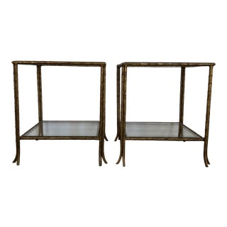 Maison Bagues Style Wheat Tables - a Pair For Sale
