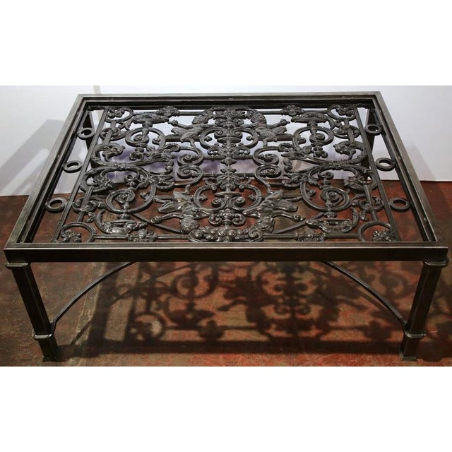 French Polished Iron Coffee Table Base For Sale - Image 3 of 10