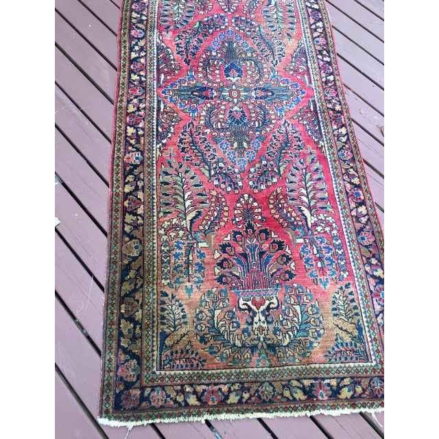 1920s Hand-Knotted Runner - 2′ × 6′ - Image 7 of 11
